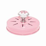 Cosmo Cricket - Show Toppers - Mason Jar Pink Ribbon Dispenser Lid with Clear Knob