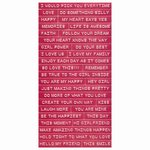 Cosmo Cricket - Cardstock Stickers - Tiny Text - Pink Punch