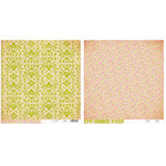Advantus - The Girls Paperie - Paper Girl Collection - 12 x 12 Double Sided Paper - Green Brocade
