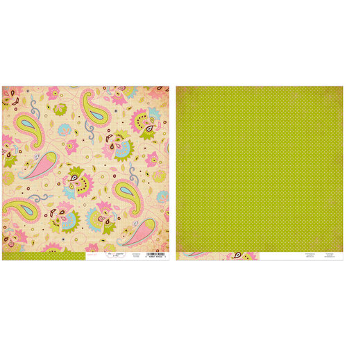 Advantus - The Girls Paperie - Paper Girl Collection - 12 x 12 Double Sided Paper - Paisley