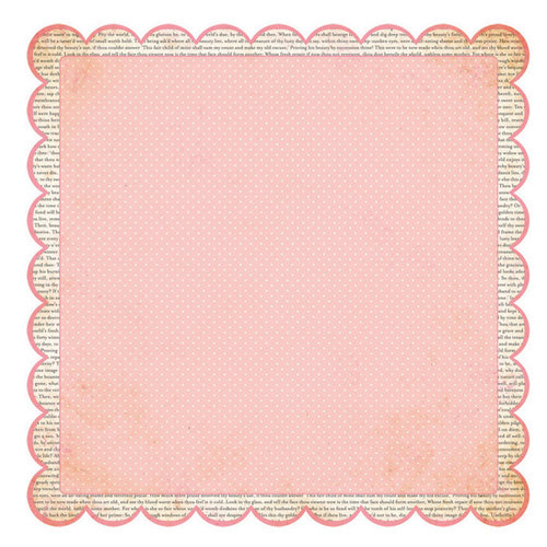 Advantus - The Girls Paperie - Paper Girl Collection - 12 x 12 Die Cut Paper - Newsprint Scallop