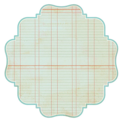 Advantus - The Girls Paperie - Paper Girl Collection - 12 x 12 Die Cut Paper - Blue Ledger