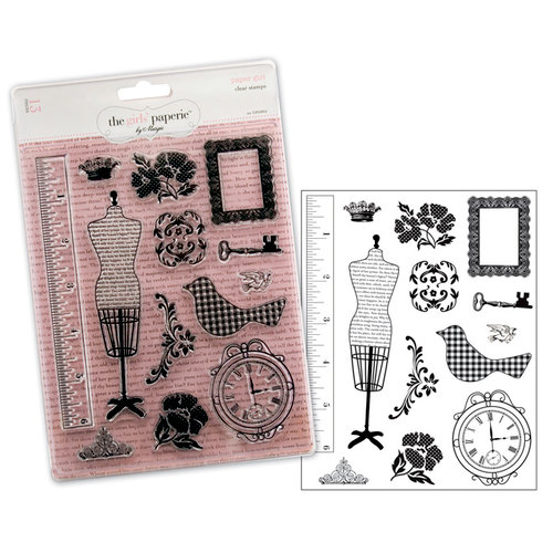 Advantus - The Girls Paperie - Paper Girl Collection - Clear Acrylic Stamps - Paper Girl