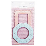Advantus - The Girls Paperie - Paper Girl Collection - Metal Frames - Shabby Pink and Aqua, CLEARANCE