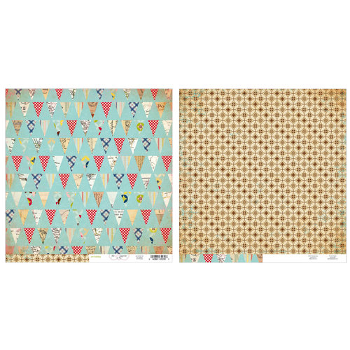 Advantus - The Girls Paperie - On Holiday Collection - 12 x 12 Double Sided Paper - Pennants