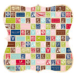Advantus - The Girls Paperie - On Holiday Collection - 12 x 12 Die Cut Paper - Stamps