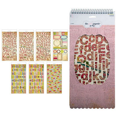 The Girls Paperie - On Holiday Collection - Sticker Pad - Travel Text