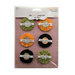 The Girls Paperie - Toil and Trouble Collection - Halloween - Crepe Paper Flowers with Glitter Accents
