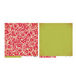 The Girls Paperie - Tinsel and Twig Collection - Christmas - 12 x 12 Double Sided Paper - Festive Brocade