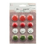 The Girls Paperie - Tinsel and Twig Collection - Christmas - Vintage Buttons
