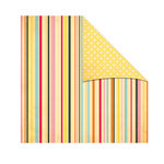 The Girls Paperie - Jubilee Collection - 12 x 12 Double Sided Paper - Carni Stripe
