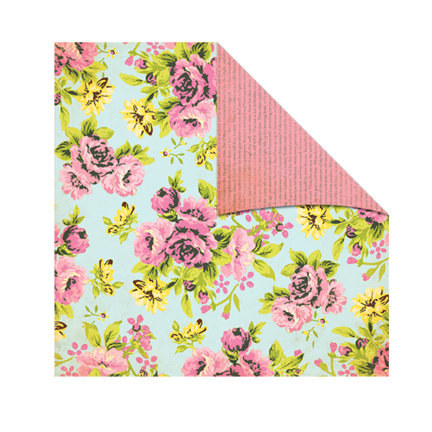 The Girls Paperie - Jubilee Collection - 12 x 12 Double Sided Paper - Frolic Rose