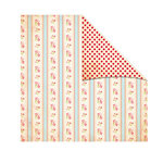 The Girls Paperie - Kitch Collection - 12 x 12 Double Sided Paper - Geranium Stripe, BRAND NEW