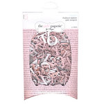 The Girls Paperie - Mix and Match Collection - Chipboard Alphabet - Pink Newsprint - Maggie