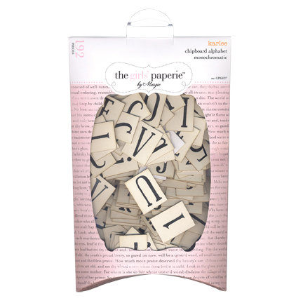 The Girls Paperie - Mix and Match Collection - Chipboard Alphabet - Typewriter Keys - Karlee