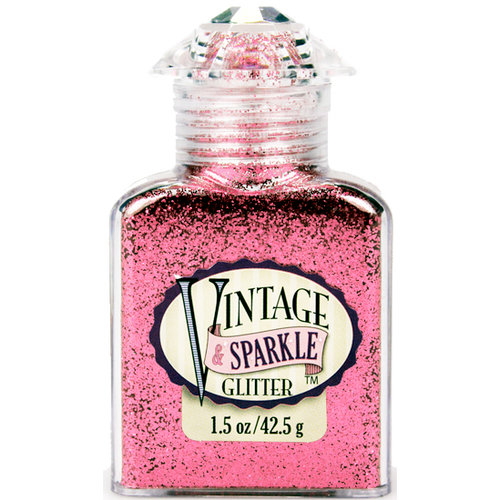 Advantus - Sulyn Industries - Vintage and Sparkle Glitter - Azalea