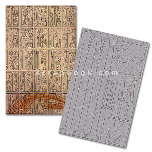 Advantus - Cropper Hopper - Tim Holtz - Grungeboard - Large Alphabet - Swirls