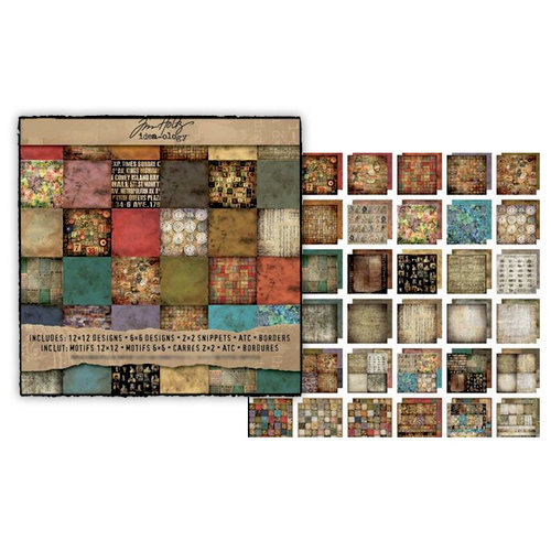 Advantus - Tim Holtz - Idea-ology Collection - 12 x 12 Paper Stash - Lost and Found
