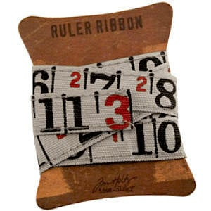 Advantus - Tim Holtz - Idea-ology Collection - Ruler Ribbon - One Yard