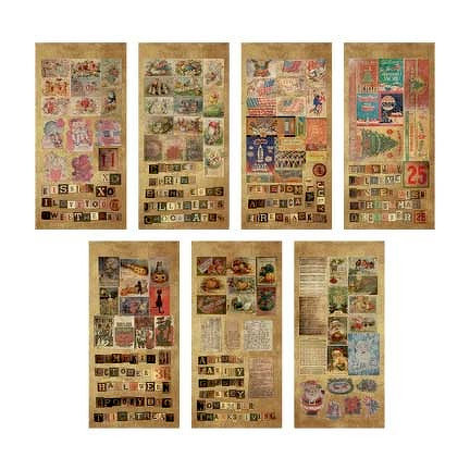 Advantus - Tim Holtz - Idea-ology Collection - Salvage Stickers - Seasonal