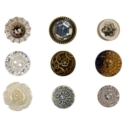 Advantus - Tim Holtz - Idea-ology Collection - Accoutrements - Buttons - Fanciful