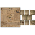 Advantus - Tim Holtz - Idea-ology Collection - 12 x 12 Paper Stash - Kraft Resist
