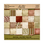 Advantus - Tim Holtz - Idea-ology Collection - Christmas - 8 x 8 Mini Paper Stash - Yuletide