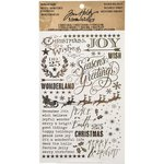 Advantus - Tim Holtz - Idea-ology Collection - Christmas - Remnant Rubs - Gilded Holidays