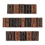 Advantus - Tim Holtz - Idea-ology Collection - Christmas - Letterpress - Holiday