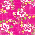 Creative Imaginations Sunny Aloha Collection Paper - Sunny Floral