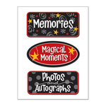 Creative Imaginations - Magic Collection - Magic Metal Signs