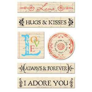 Creative Imaginations Chipboard - Narratives by Karen Russell - Antique Love, CLEARANCE