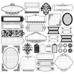 Creative Imaginations - Anthology by Sonnet Studios - 12x12 Labels Sticker Sheets - Jacqueline, CLEARANCE