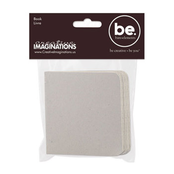 Creative Imaginations - Bare Elements Collection - Chipboard Album - Square Mini Book - Melodee