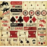 Creative Imaginations - Play Cards by Marah Johnson - 12x12 Cardstock Stickers - Play Cards