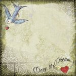 Creative Imaginations - Love Struck by Marah Johnson - Tattoo Collection - Paper - Dare to Dream