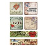 Creative Imaginations - Love Struck by Marah Johnson - Tattoo Collection - Mini Chipboard Stickers - Undeniable, CLEARANCE