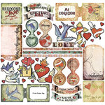 Creative Imaginations - Love Struck by Marah Johnson - Tattoo Collection - 12x12 Cardstock Sticker - Love Struck