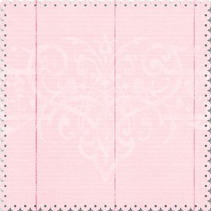 Creative Imaginations - Narratives by Karen Russell - Scalloped Die Cut Paper - Sweet Pea Girl Collection - Pink Lined, CLEARANCE