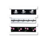 Creative Imaginations - Skull and Crossbones Collection - Twill Cards, CLEARANCE