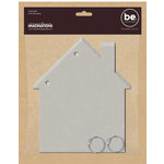 Creative Imaginations - Bare Elements Collection - Chipboard Album - House Ring Book - Sierra