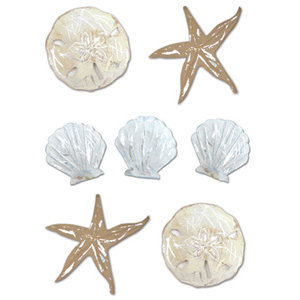 Creative Imaginations - Metal Embellishments by Allison Connors - Shells