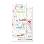 Creative Imaginations - Art Warehouse - Fresh Collection by Danelle Johnson - Large Chipboard - Fresh Elements, CLEARANCE