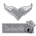 Creative Imaginations - Love Stuck by Marah Johnson - Tattoo Collection - Metal Embellishment