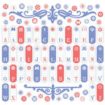 Creative Imaginations - Narratives - Wildberry Collection by Karen Russell - 12x12 Cardstock Stickers - Wildberry Tab Alphabet
