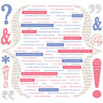 Creative Imaginations - Narratives - Wildberry Collection by Karen Russell - 12x12 Cardstock Stickers - Wildberry Quotes, CLEARANCE