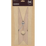 Creative Imaginations - Bare Elements Collection - Large Clothes Pin - Ferdie