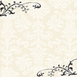 Creative Imaginations - Narratives - Antique Cream Collection by Karen Russell - 12x12 Paper - Cream Damask
