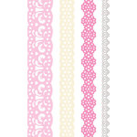 Creative Imaginations - Narratives - French Sweet Pea Collection by Karen Russell - Self-Adhesive Paper Lace - 4 Ribbons - Sweet Pea, CLEARANCE