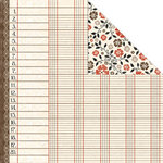 Creative Imaginations - Day By Day Collection by Samantha Walker - 12x12 Double Sided Paper - Cream Ledger, CLEARANCE